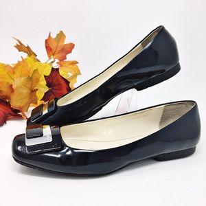 Calvin Klein Patent Leather Flats Sz 8M